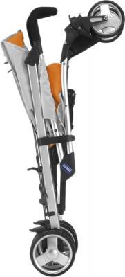 Детская прогулочная коляска Chicco Lite Way (Brown) - трость (Lite Way Complete Orange)