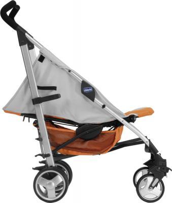 Детская прогулочная коляска Chicco Lite Way (Brown) - с опущенной спинкой (Lite Way Complete Orange)