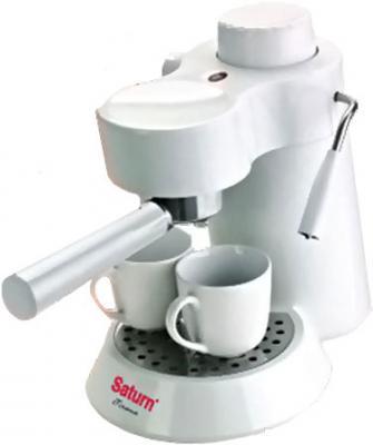 Кофеварка эспрессо Saturn ST-CM7086 (белый) - общий вид