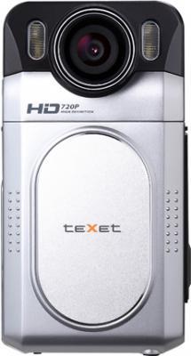 Автомобильный видеорегистратор TeXet DVR-500HD Silver - фронтальный вид