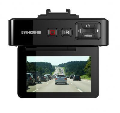 Автомобильный видеорегистратор TeXet DVR-620FHD Black - дисплей
