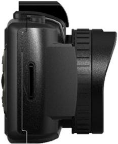 Автомобильный видеорегистратор TeXet DVR-701FHD Black - вид сбоку