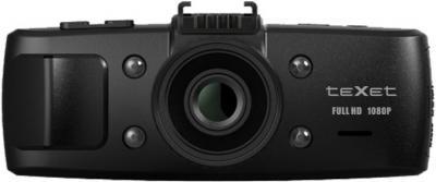 Автомобильный видеорегистратор TeXet DVR-701FHD Black - фронтальный вид