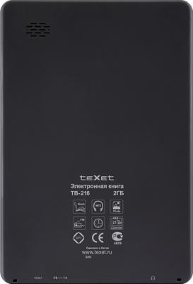 Электронная книга TeXet TB-216 - вид сзади