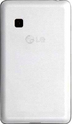 Мобильный телефон LG T375 Cookie Smart White Patterned - задняя кышка с узором