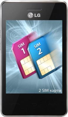 Мобильный телефон LG T375 Cookie Smart White Patterned - общий вид