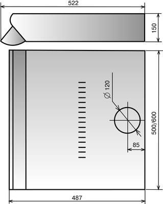 Вытяжка плоская Elikor Europa 50П-290-П3Л (черный) - схема