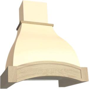 Вытяжка купольная Elikor Аркада 60 (крем/дуб неокрашенный) - общий вид