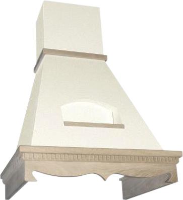 Вытяжка купольная Elikor Бельведер 90П-650-П3Г (золотой антик/дуб неокрашенный) - общий вид