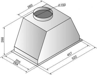 Вытяжка скрытая Elikor Врезной Блок 60 (серебристый) - схема