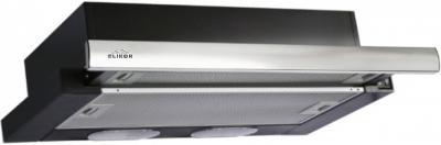 Вытяжка телескопическая Elikor Интегра 50П-400-В2Л (черный/нержавеющая сталь) - общий вид
