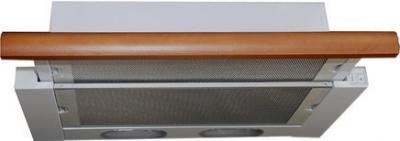 Вытяжка телескопическая Elikor Интегра 60 (белый/бук орех) - общий вид