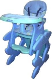 Стульчик для кормления Amalfy ФРОШ (голубой) - общий вид