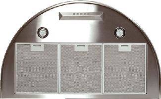 Вытяжка купольная Elikor Омега 60Н-650-К3Г (серебристый) - вид снизу