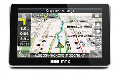 GPS навигатор SeeMax Smart TG510 - вид спереди