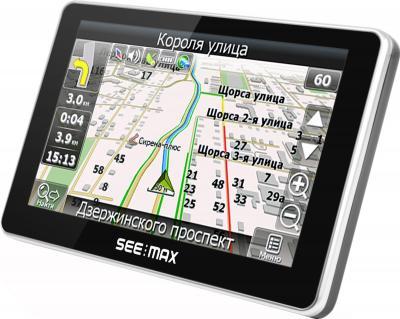 GPS навигатор SeeMax Smart TG510 - вид сбоку