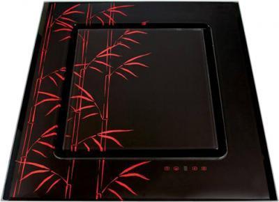 Вытяжка декоративная Elikor Оникс ART 90 (черный/бамбук) - общий вид