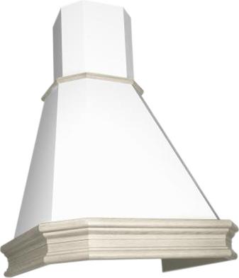 Вытяжка купольная Elikor Пергола 90 (бежевый/дуб неокрашенный) - общий вид