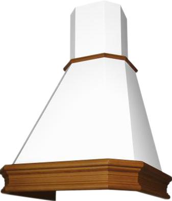 Вытяжка купольная Elikor Пергола 90 (бежевый/дуб коричневый) - общий вид