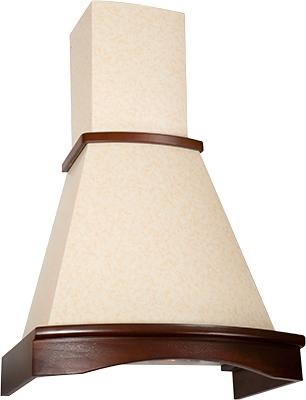 Вытяжка купольная Elikor Ротонда 60 (венец. штукатурка/бук коричневый) - общий вид