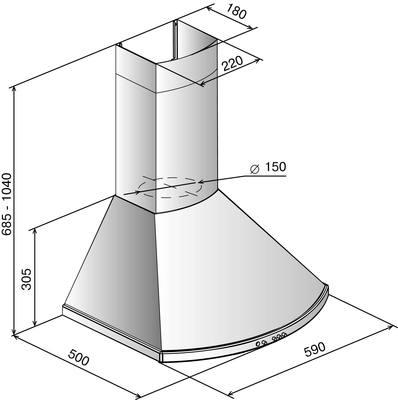 Вытяжка купольная Elikor Сигма 60П-650-К3Г (антрацит/бронза) - общий вид