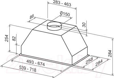 Вытяжка скрытая Best PASC780FPX (70, нержавеющая сталь)