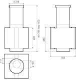 Вытяжка коробчатая Best Lipari White - схема