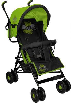 Детская прогулочная коляска Bertoni Sun (Black-Green Sunny City) - общий вид