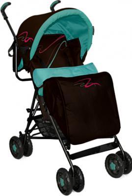 Детская прогулочная коляска Bertoni Sun (Blue-Brown Lines) - чехол для ног