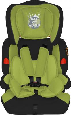 Автокресло Lorelli Kiddy (Black-Green Get The World) - общий вид