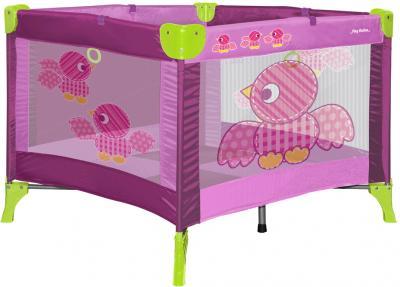 Игровой манеж Lorelli Play Birds Pink - общий вид