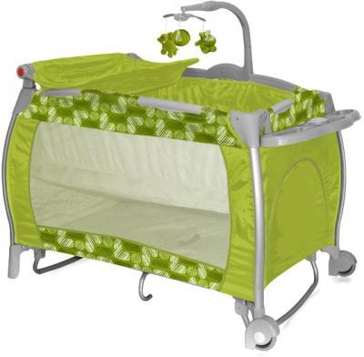 Кровать-манеж Bertoni I'Lounge 2 Rocker Green Puzzle - общий вид
