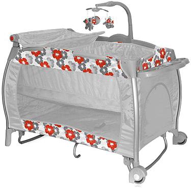 Кровать-манеж Bertoni I'Lounge 2 Rocker Orange Flowers - общий вид