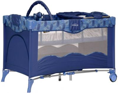 Кровать-манеж Bertoni Travel Kid 2 Blue Puzzle - общий вид