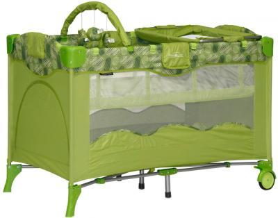 Кровать-манеж Bertoni Travel Kid 2 Green Puzzle - общий вид