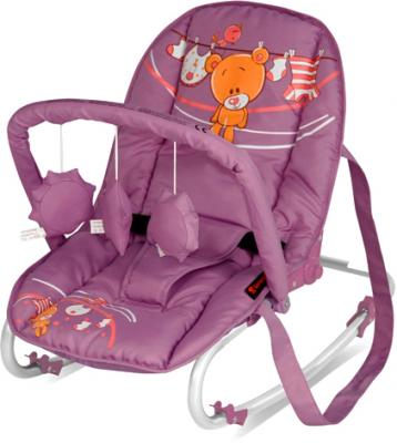 Детский шезлонг Lorelli Top Relax Violet Teddy Bear - общий вид