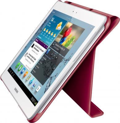 Чехол для планшета Samsung TAB 2 10.0/P5100 Garnet Red - вид сбоку с планшетом
