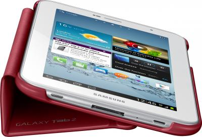 Чехол для планшета Samsung TAB 2 7.0/P3100 Garnet Red - вид сбоку с планшетом