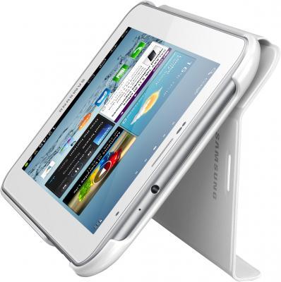 Чехол для планшета Samsung TAB 2 7.0/P3100 White - вид сбоку с планшетом