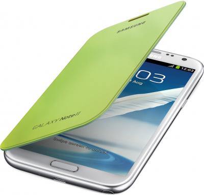 Чехол-книжка Samsung Flip Cover N7100 Green - общий вид