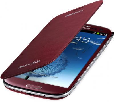 Чехол-книжка Samsung Flip Cover i9300 Garnet Red - общий вид