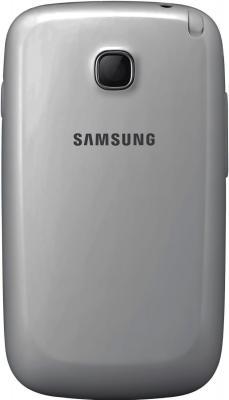 Мобильный телефон Samsung Champ Neo Duos / C3262 (серебристый) - задняя крышка