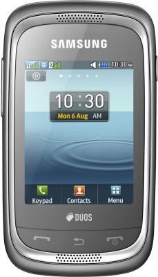 Мобильный телефон Samsung Champ Neo Duos / C3262 (серебристый) - общий вид