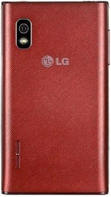 Смартфон LG E615 Optimus L5 Dual (Red-White) - задняя крышка