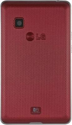 Мобильный телефон LG T370 Cookie Smart Wine-Red - задняя крышка
