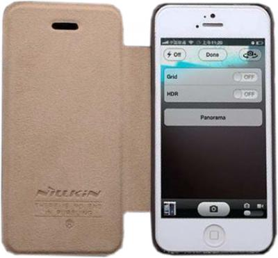 Чехол для телефона Nillkin Crossed Style Brown (для iPhone 5) - общий вид
