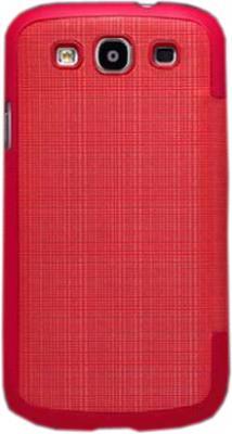 Чехол-флип для Samsung I9300/I9308 Nillkin Crossed Style Bright Red - общий вид