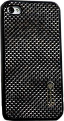 Задняя крышка для Apple iPhone 4/4S Nillkin Phantom Obsidian Black - общий вид