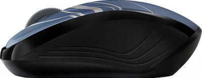Мышь Rapoo 3100p (сине-серый) - вид сбоку