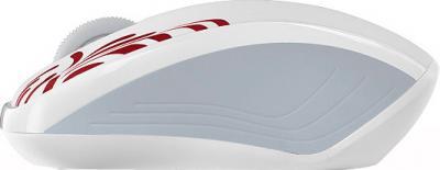 Мышь Rapoo 3100p (бело-красный) - вид сбоку